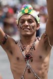 Bare chested indigenous man Royalty Free Stock Photo