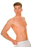 Bare-chested man Stock Image