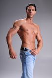 Bare Chested Young Man Royalty Free Stock Photo