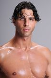 Bare Chested Young Man Stock Image