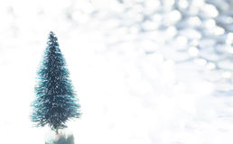 Bare Christmas Tree Stock Photography