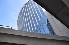 Bare concrete and glass museum - Osaka, Japan stock photos
