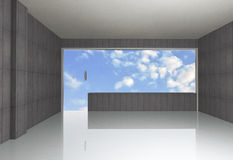 Bare concrete room Stock Images