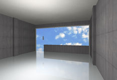 Bare concrete room Royalty Free Stock Image