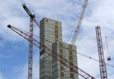 Bare construction. Start of building a new highrise office in Amsterdam, the Netherlands Royalty Free Stock Photos
