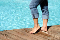 Bare Feet By The Pool Royalty Free Stock Photography