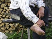 Bare feet Stock Image