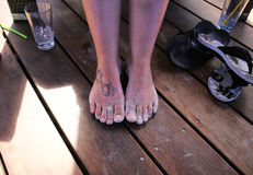 Bare feet Royalty Free Stock Photography