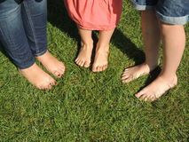 Bare feet ready for the barefoot walk Royalty Free Stock Photo