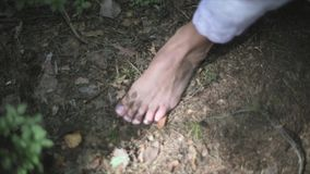 Bare Feet Of A Young Woman stock video