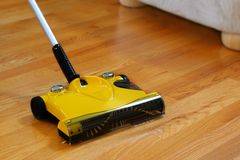 Bare Floor Sweeper Stock Photos