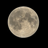 Bare full moon. Scape with black background Royalty Free Stock Photos