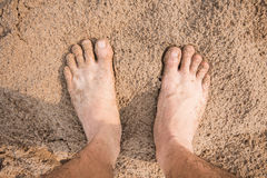 Bare human feet Stock Photo