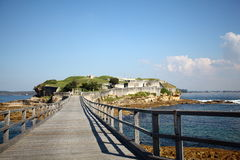 Bare Island -  Australia. Bare Island is a small island in south-eastern Sydney, in the state of New South Wales, Australia. It is located about 16km south east Stock Image