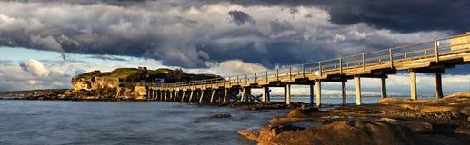 Bare Island wooden bridge Royalty Free Stock Photo