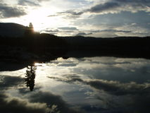 Bare Loon Lake Morning Stock Image