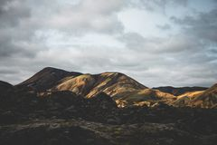 Bare mountain landscape Royalty Free Stock Images