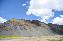 Bare mountain in Tibet Royalty Free Stock Photo