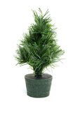 Bare plastic christmas tree Royalty Free Stock Photo