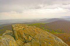 Bare rocks above Eastern Mountains Royalty Free Stock Images