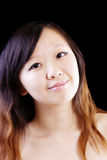 Bare Shoulder Portrait Young Attractive Chinese Woman Royalty Free Stock Images