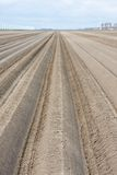 Bare winter farmland waiting for spring Royalty Free Stock Images