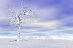 Bare Winter landscape Royalty Free Stock Images