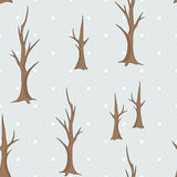 Bare winter trees seamless pattern Royalty Free Stock Photography