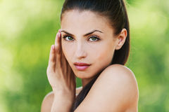 Bare young woman Stock Image