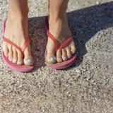 Barefoot в темповых сальто сальто Стоковое Изображение