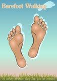 Barefoot идущ Стоковые Фотографии RF