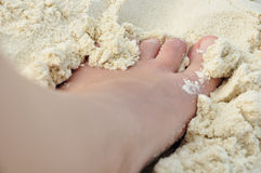 barefoot imagem de stock