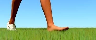barefoot ilustração do vetor
