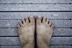 barefoot fotografia de stock