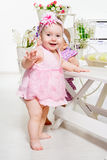 Barefoot baby girls Royalty Free Stock Photography