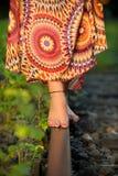 Barefoot balancing Stock Image