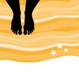 Barefoot on the beach Stock Photos