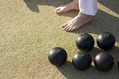 Barefoot Bowling Royalty Free Stock Images