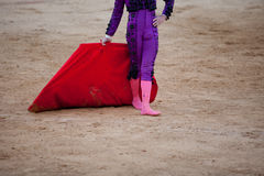 The barefoot bullfighter Stock Photography