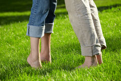 Barefoot couple Royalty Free Stock Photo