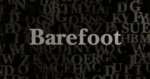 Barefoot - 3D rendered metallic typeset headline illustration Stock Photos