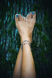 Barefoot fashion Royalty Free Stock Images