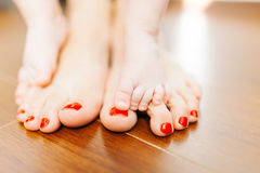 Barefoot feet Stock Image