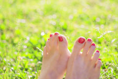 Barefoot Royalty Free Stock Image