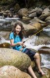 Barefoot fishing Royalty Free Stock Photography