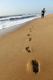 Barefoot footprints Royalty Free Stock Photo