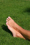 Barefoot in the Grass Royalty Free Stock Photos
