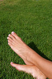 Barefoot in the Grass Royalty Free Stock Image