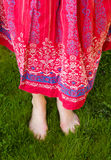 Barefoot in grass royalty free stock image