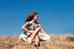 Barefoot in grass Stock Photo